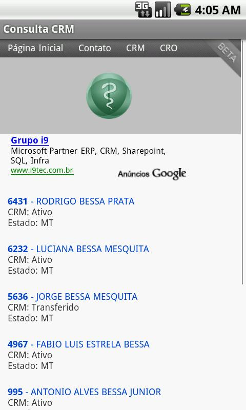 Consulta CRM- screenshot
