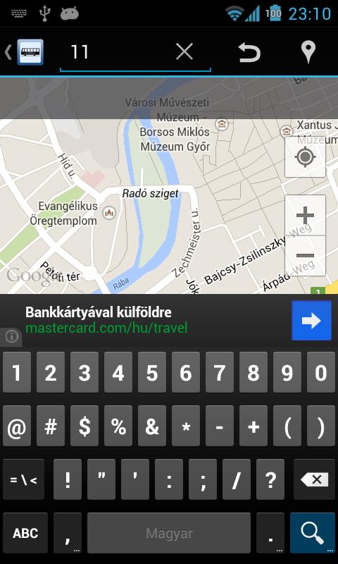 Kisalföld menetrend online - screenshot