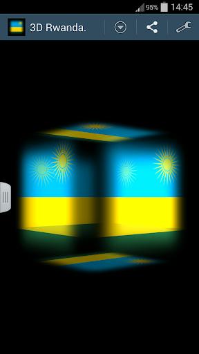 3D Rwanda Cube Flag LWP