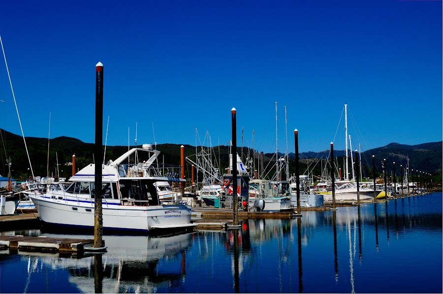 Garibaldi Harbor by Andrea Doolittle - Transportation Boats