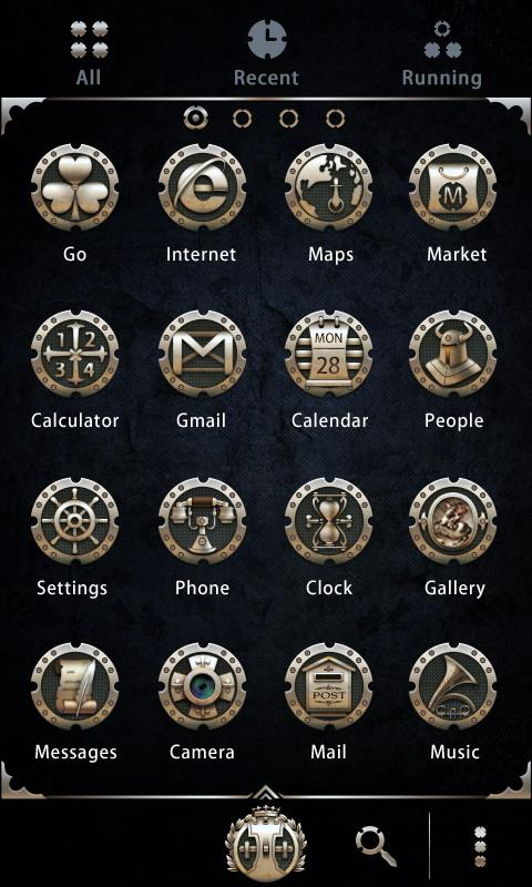 Alloy - GO Launcher Theme - screenshot
