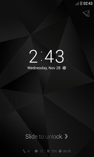 Simple Black Dodol Theme