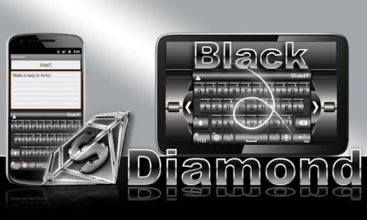 SlideIT Black Diamond Skin - screenshot thumbnail