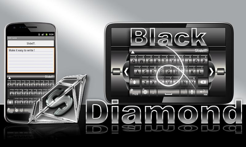 SlideIT Black Diamond Skin - screenshot