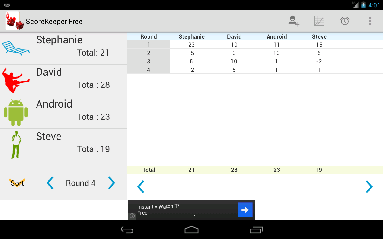 Score Keeper Free - screenshot
