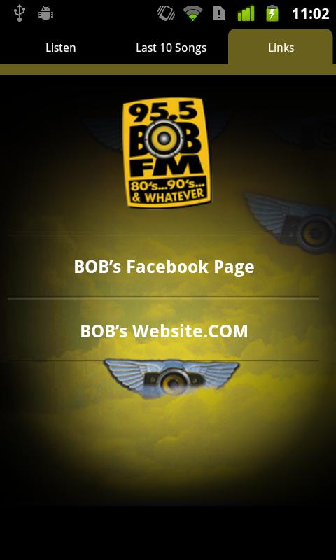 95.5 BOB-FM 80's, 90's- screenshot