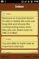 Screenshot of Essential Notes