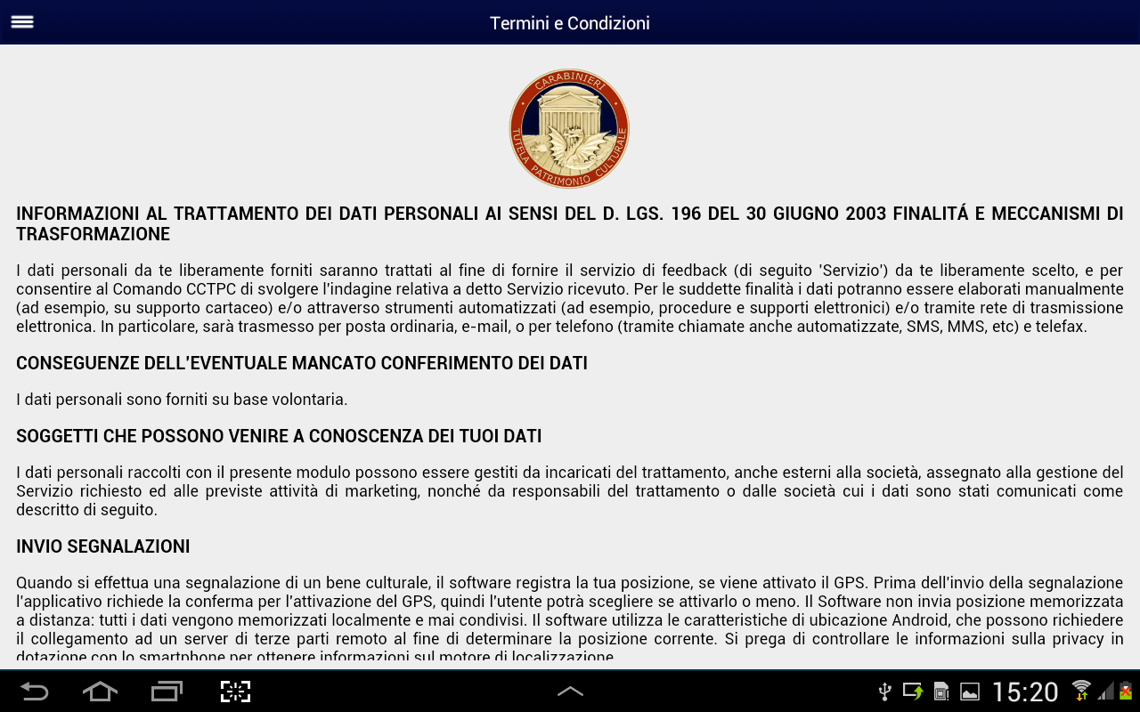 iTPC Carabinieri- screenshot