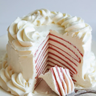 Low Carb Red Velvet Crepe Cake.