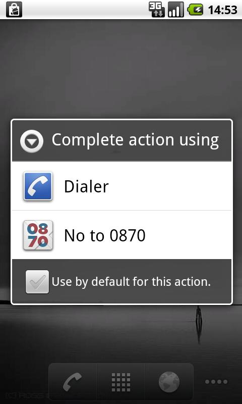 No to 0870 - screenshot