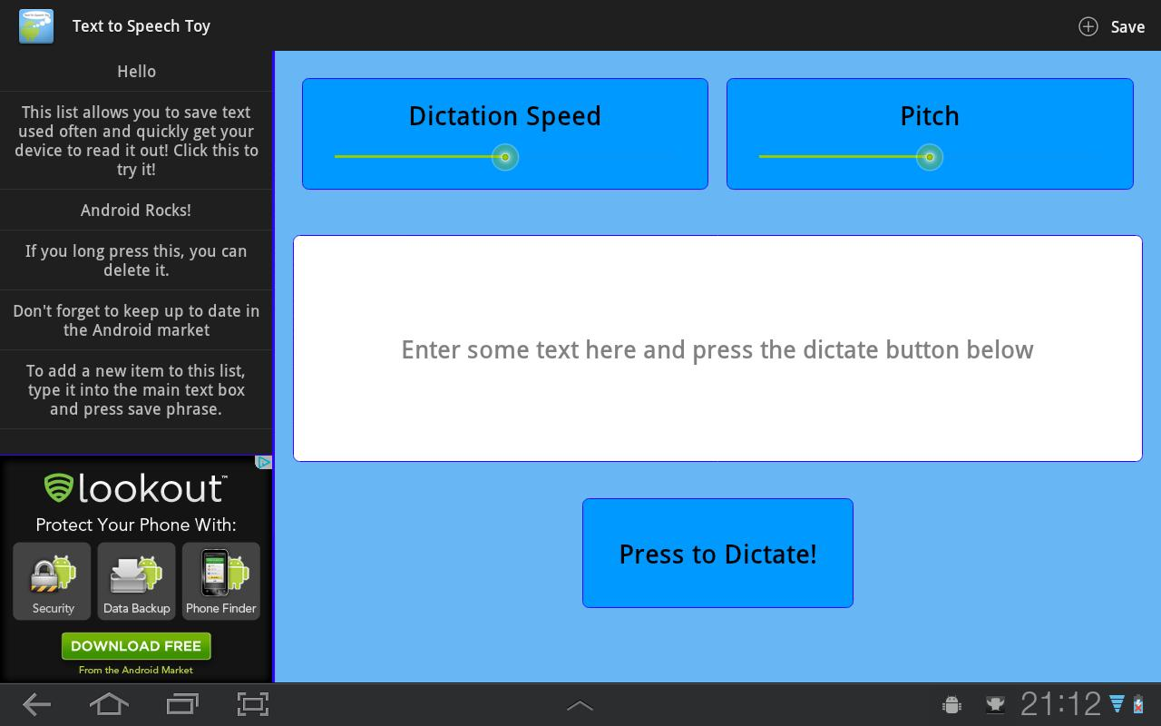 Text To Speech Toy- screenshot