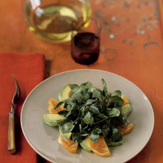 Fuyu Persimmon and Avocado Salad.