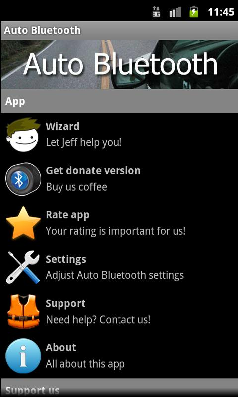 Auto Bluetooth donate - screenshot