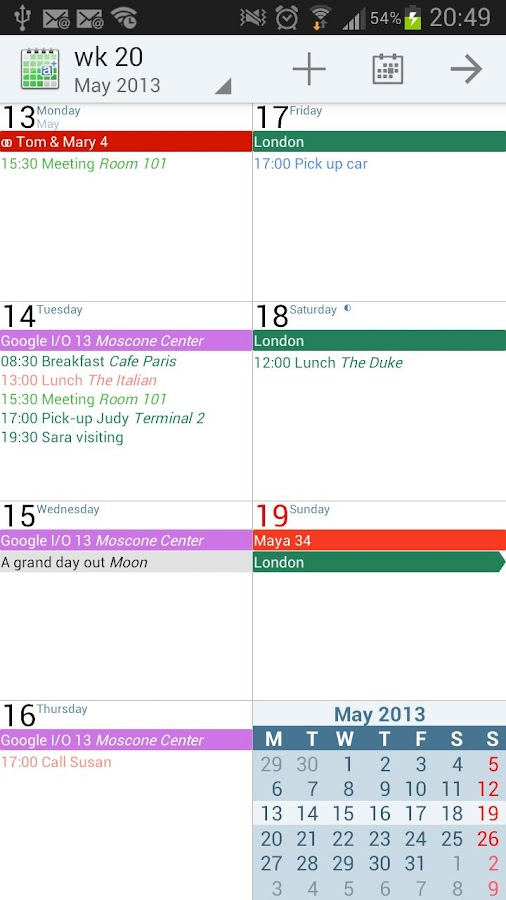 aCalendar+ Calendar & Tasks - screenshot