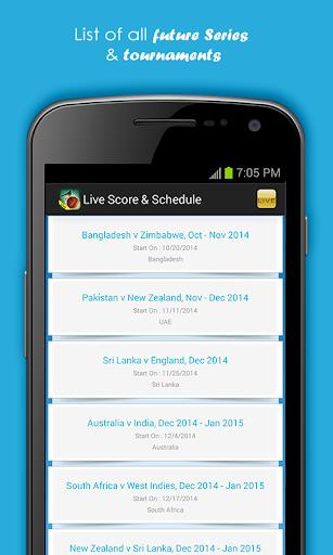 Live Cricket Scores & Schedule 1.6 screenshots 1