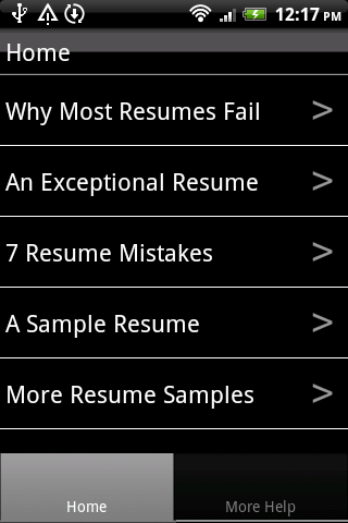 resume sles android apps on play