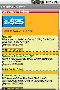 Shopping Coupons screenshot 1