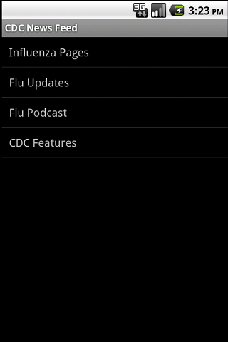 CDC Flu Informant - screenshot