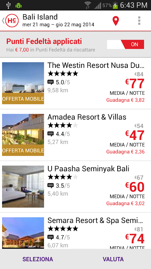Hotelclub - hotel bookings - screenshot