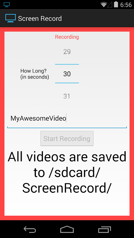Screen Record (for KitKat+)- screenshot