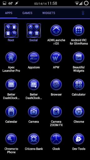 TrueBlue Apex/ADW/Nova 1.1.9 screenshots 3