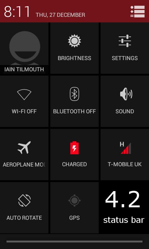 TESLA RED CM / AOKP THEME- screenshot