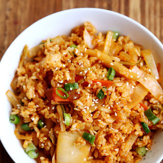 Kimchi Spam Fried Rice.