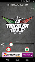 Screenshot of La Tricolor 103.5