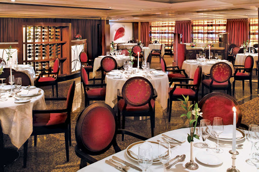 Windstar-Cruises-Amphora-Star-Pride - Look for local cuisine and an innovative menu of gourmet specialties at AmphorA Restaurant, the main dining room aboard Windstar Cruises' Star Pride.