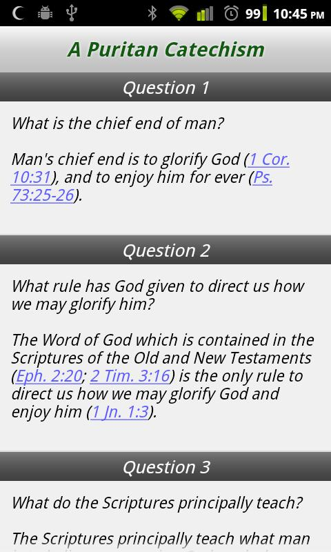 A Puritan Catechism - screenshot