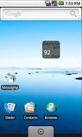 Screenshot of Daytona500 Countdown Widget