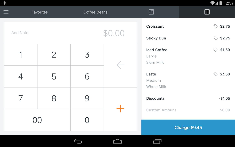 Square Register - screenshot