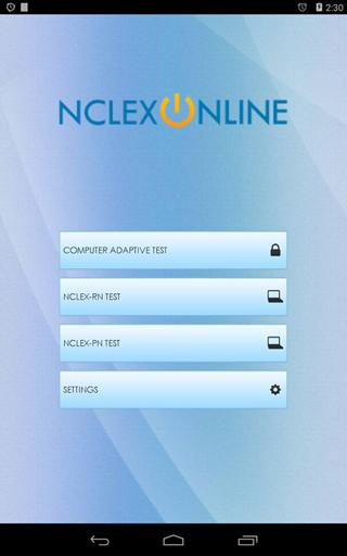 NCLEX Online Practice Exam- screenshot