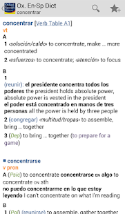 Oxford Spanish Dictionary - screenshot thumbnail