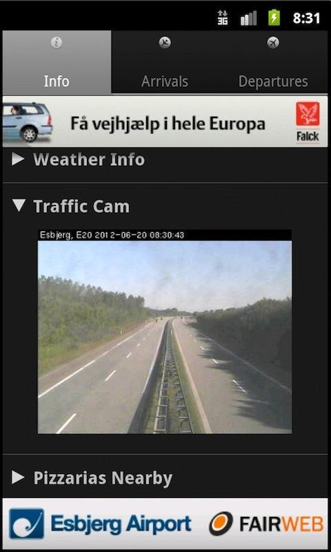 Esbjerg Airport- screenshot