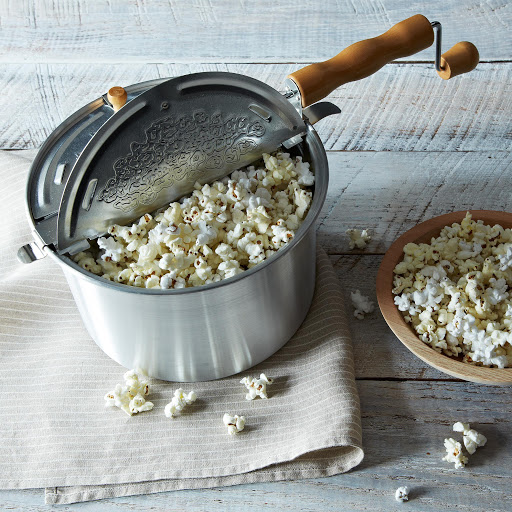 Original Whirley Pop Popcorn Popper with Non-GMO Popcorns