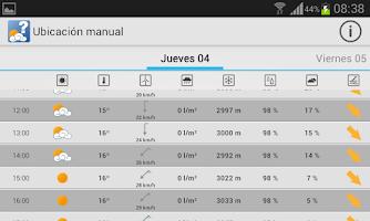 Screenshot of MeteoSIX Mobile