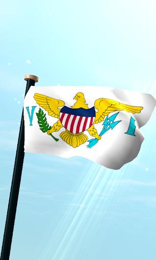 美属维京群岛,旗3D动态壁纸