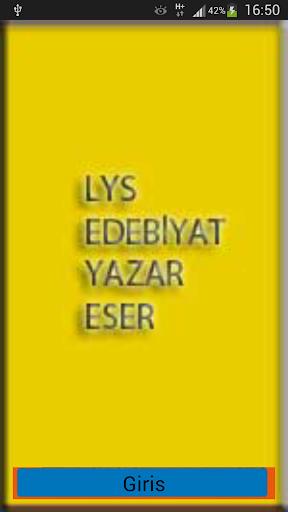 LYS EDEBİYAT YAZAR-ESER