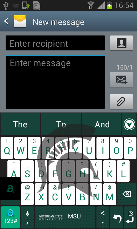 Michigan State Keyboard- screenshot