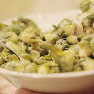 Steamed Brussels Sprouts and Turnips.