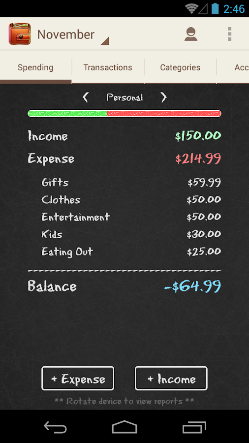 Spending Tracker- screenshot