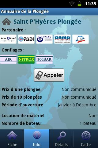 French Dive Directory- screenshot