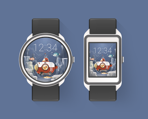 Submarine watchface by Lluvia