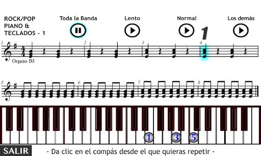 Piano y Teclados Rock Pop