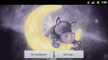 Screenshot of Sleepy Hippo Live Wallpaper Fr