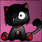 Emo Kitty Heart Theme