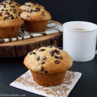 Bakery Style Chocolate Chip Muffins.
