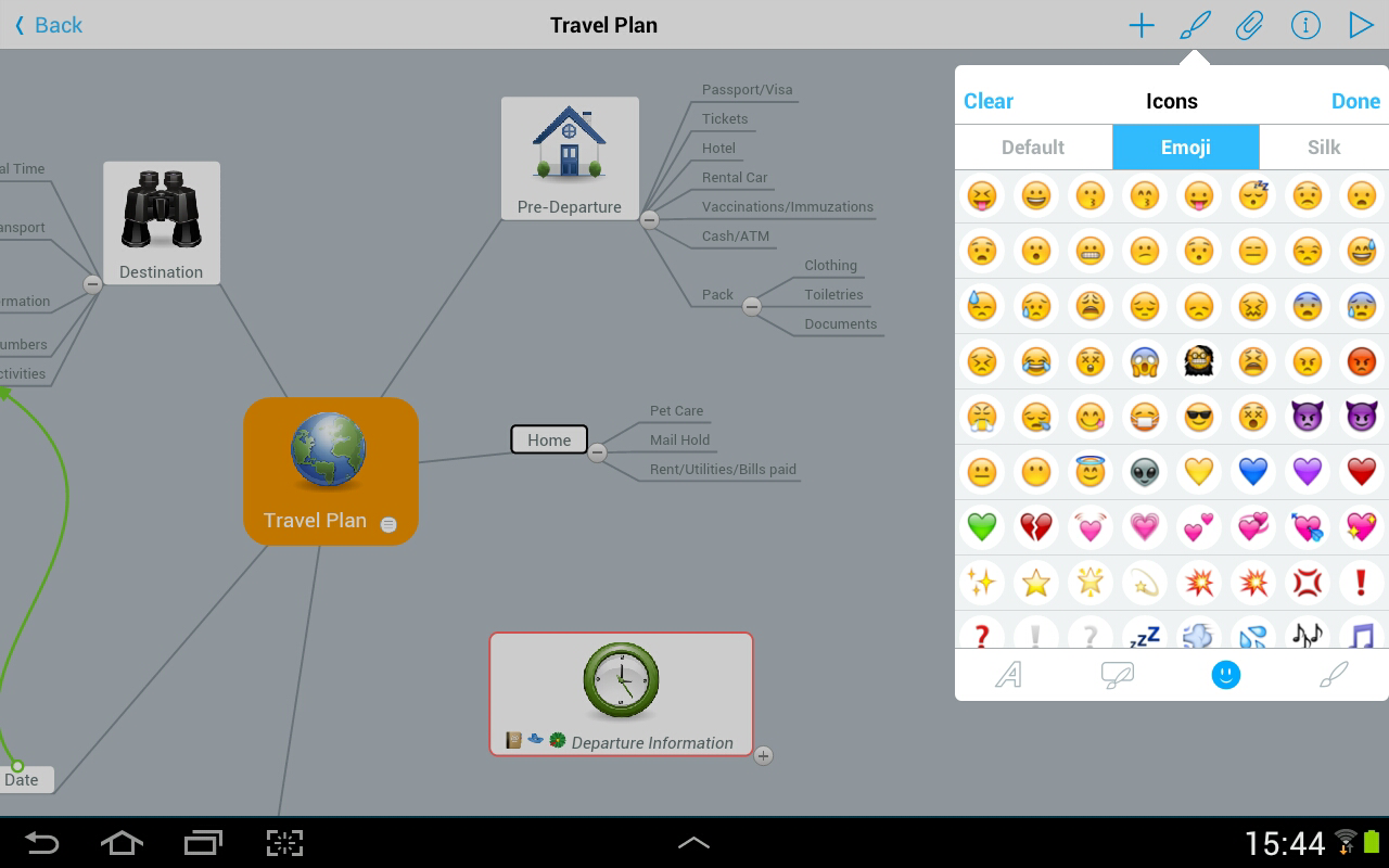 MindMeister (mind mapping)- screenshot