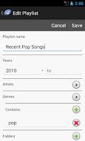 Screenshot of Playlist Designer